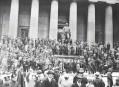 Crowd After Stock Market Crash